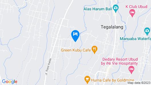 Capella Ubud, Bali Map