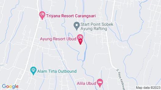 Ayung Resort Ubud Map