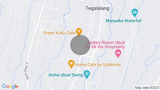 Romantic 2 Bedrooms Villa in Ubud Area Map