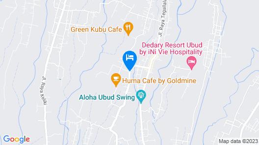 Kabinawa Ubud Villas and Cafe Map