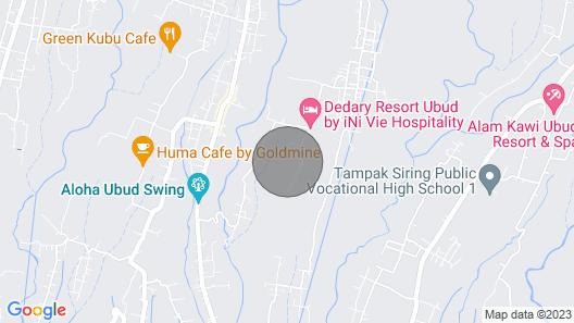 Great Location Near Ubud, Pool View Map