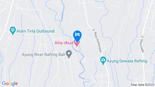 Alila Ubud. Bali Map