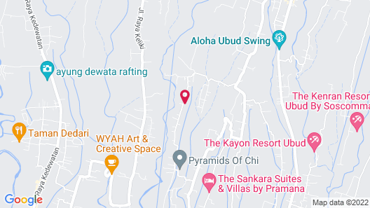 Bidadari Private Villas & Retreat Map