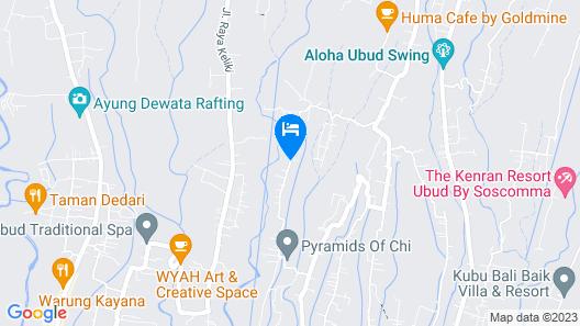 Natya Resort Ubud Map