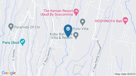 Anahata Ubud Vilas & spa Map