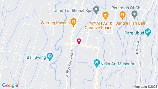Temuku Villas Ubud Map