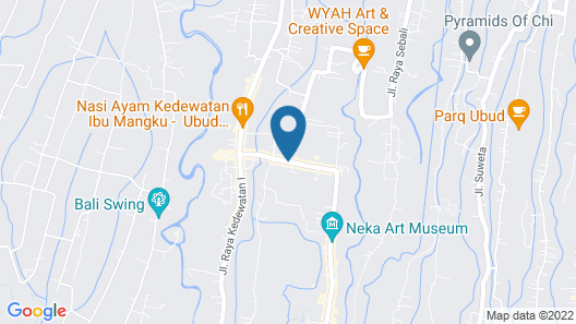 Ubud Padi Villas Map