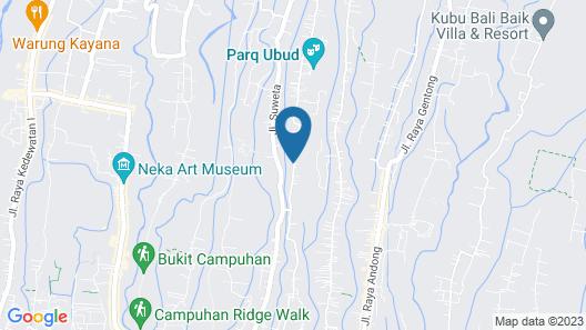 Laba Ubud Villa Map