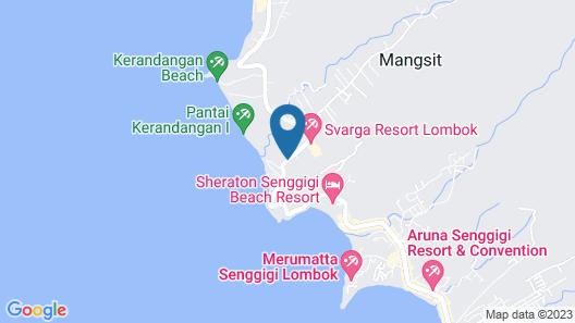Svarga Resort Lombok Map