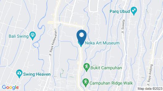 Puri Sedana Ubud Villa Map