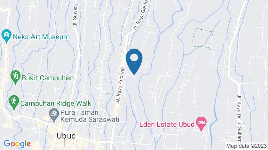 Udhiana Resort Ubud Map