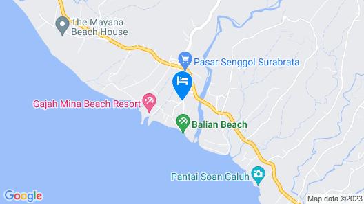 Balian Paradise Resort Map