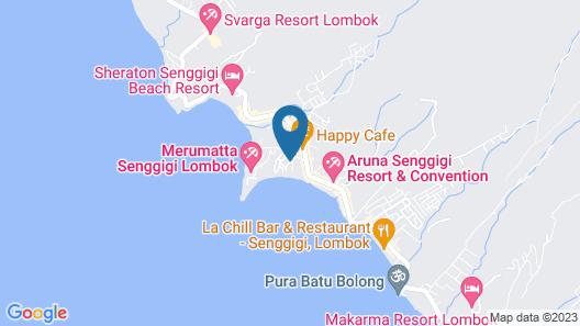 Pool Villa Club Senggigi Beach Lombok Map