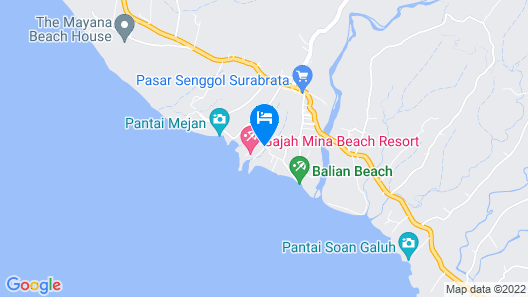 Gajah Mina Beach Resort Map