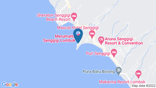 Kila Senggigi Beach Lombok Map