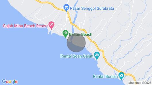 The Delux Villa Tao in Balian, Facing the Indian Ocean ! Map
