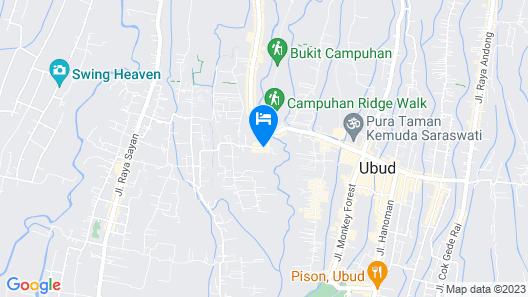 Sri Ratih Cottages Map