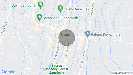Ubud Sweet Home With Great Service Map