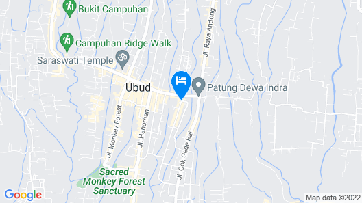 SenS Hotel and Spa Conference Ubud Town Centre Map