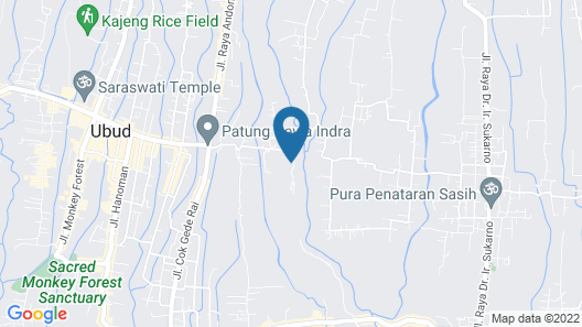 Maya Ubud Resort and Spa Map