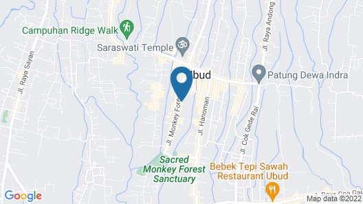 Cendana Resort & Spa Map