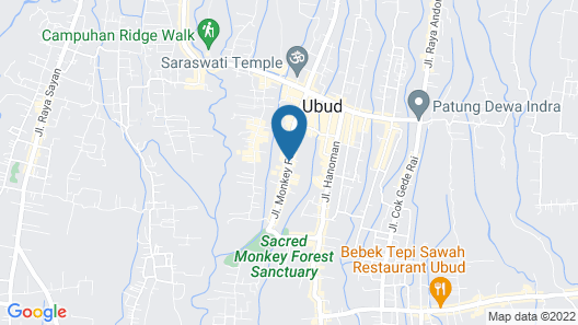 Ubud Village Hotel Map
