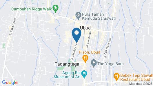 Downtown Monkey Forest - Hostel Map
