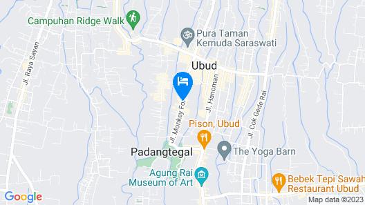 Komaneka at Monkey Forest Map