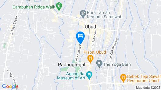 Adiwana Monkey Forest Map