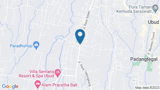 The Kampung Ubud Villa Map