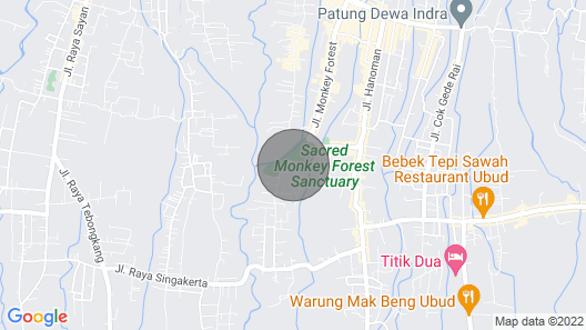 2Bedroom 1 Minute to Monkey Forest Map