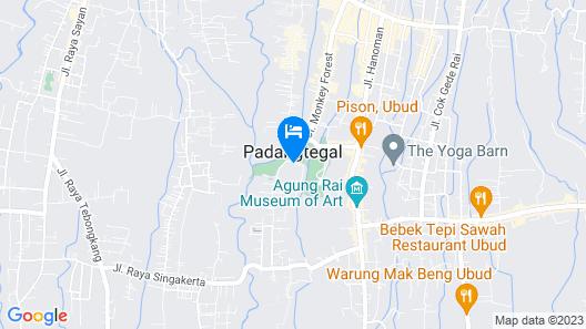 Ubud Wana Villa Map