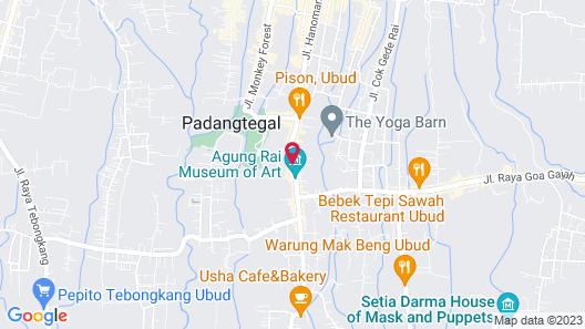 Plataran Ubud Hotel & Spa Map