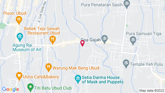 Tanah Gajah, a Resort by Hadiprana Map