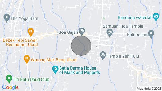 Limitless Jungle Villas Complex, 5 BR, Ubud w/ Staff Map