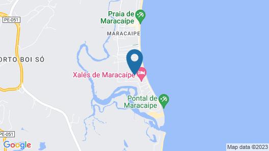 Xalés de Maracaípe Map