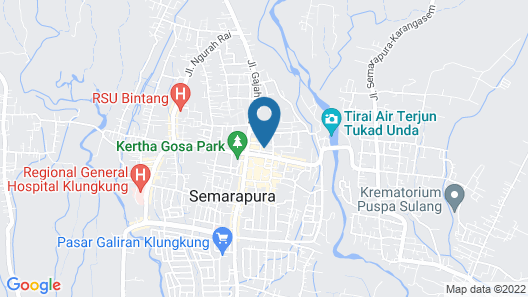 Klungkung Tower Hotel Map
