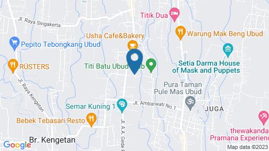 De Ubud Villas & Spa Map
