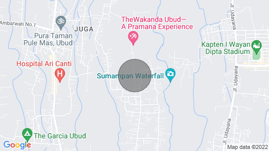 Separated 6 Bedroom Superior Bungalow Ubud Map
