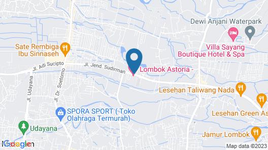Lombok Astoria Hotel Map