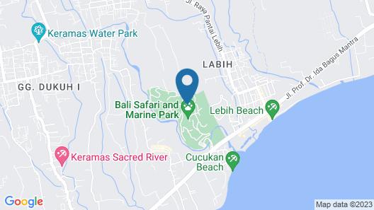 MARA RIVER SAFARI LODGE at Bali Safari & Marine Park Map