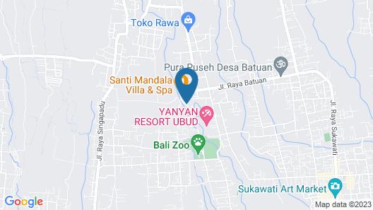 Santi Mandala Villa & Spa Map