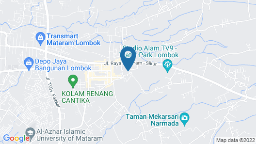 OYO 1427 Azzahra Guest House Map