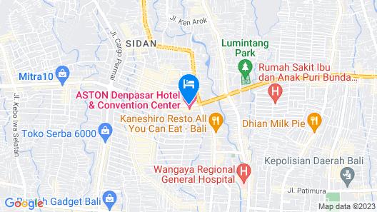 Aston Denpasar Hotel and Convention Center Map