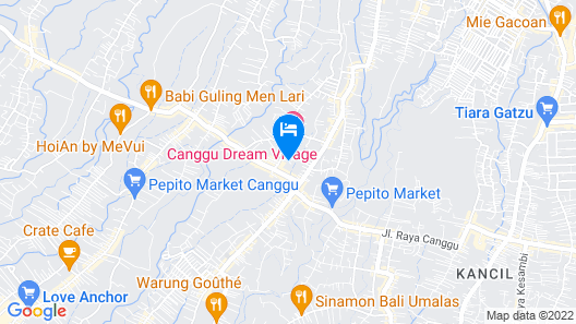 Puri Canggu Villas & Rooms Map
