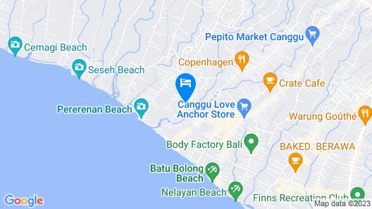 Pererenan Nengah Guesthouse Map
