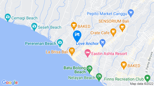 Sense Canggu Beach Hotel Map