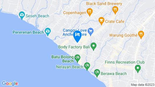 FRii Bali Echo Beach Map