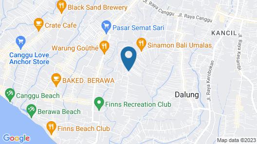 The Bidadari Villas and Spa Map