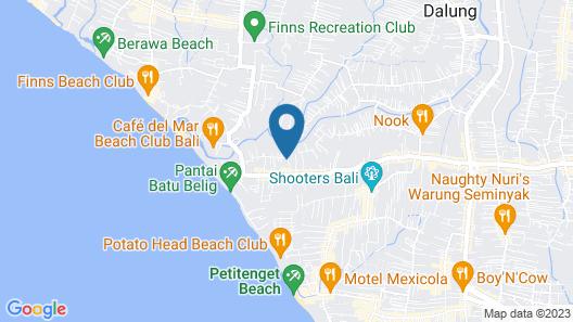Rent a Luxury Villa in Bali Close to the Beach, Bali Villa 2077 Map